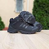 Чоловічі зимові кросівки в стилі Adidas Climaproof чорні, фото 4