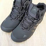 Чоловічі зимові кросівки в стилі Adidas Climaproof чорні, фото 5