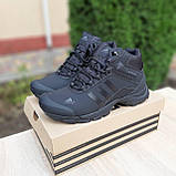 Чоловічі зимові кросівки в стилі Adidas Climaproof чорні, фото 10