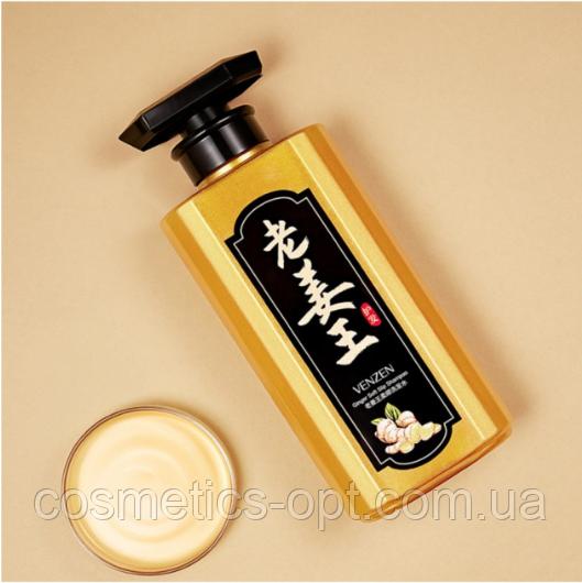 НЕ ДОЛИТ ФЛАКОН!  Увлажняющий имбирный шампунь Venzen Ginger Soft Slip Shampoo, 450 ml