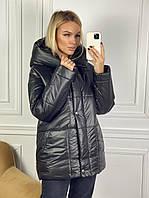 Куртка на синтепоне с капюшоном женская (ПОШТУЧНО), фото 1
