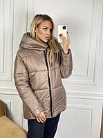 Куртка подовжена (пальто) на синтепоні жіноча ЧОРНА (ПОШТУЧНО), фото 1