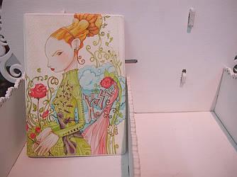 """Обложка на паспорт """"Принцесса в саду"""""""