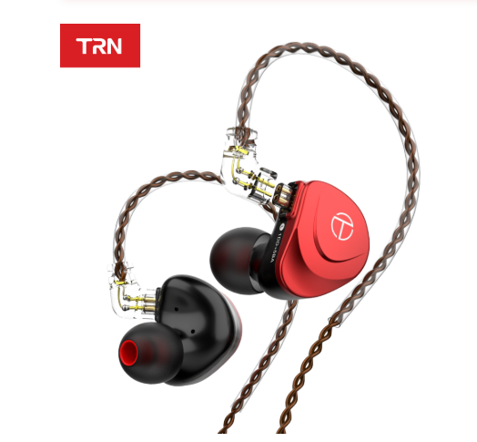 TRN V90s Гібридні 6-і драйверні HI-FI навушники Black