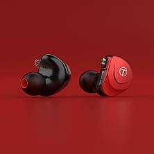 TRN V90s Гібридні 6-і драйверні HI-FI навушники Black, фото 3