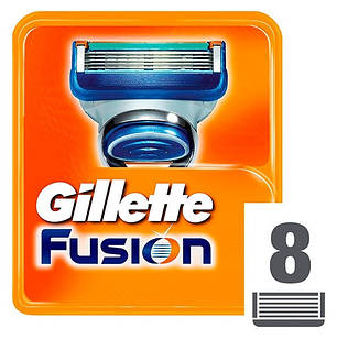 Змінні касети Gillette Fusion 8 шт