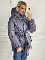 Куртка на синтепоні з капюшоном жіноча (ПОШТУЧНО), фото 1