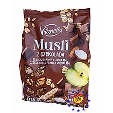 Мюсли Vitanella с шоколадом, яблоком и миндалем Польша 350 г