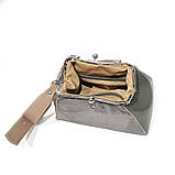 Сумка ридикюль, цвет серый/ тауп, фото 5