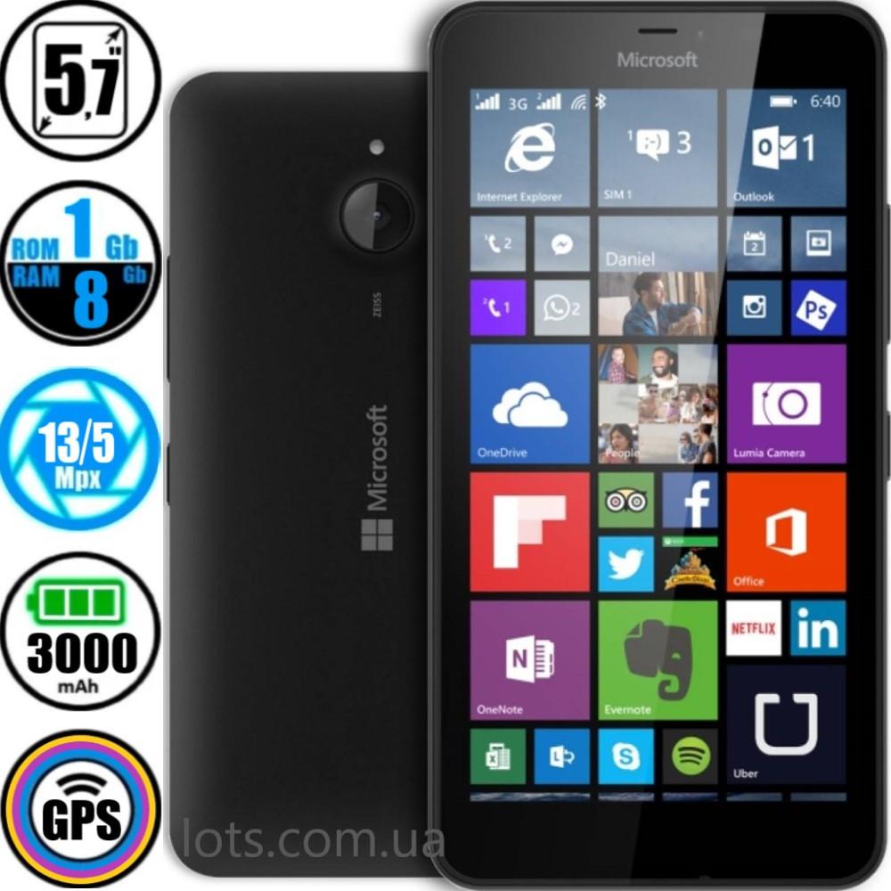 Смартфон Nokia Microsoft Lumia 640 XL Black + Подарок Защитное Стекло