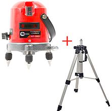 Комплект Лазерный уровень INTERTOOL MT-3009 + Штатив для лазерного уровня INTERTOOL  MT-3013
