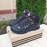 Чоловічі зимові кросівки FASTR чорні з помаранчевим, фото 4