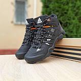 Чоловічі зимові кросівки FASTR чорні з помаранчевим, фото 5