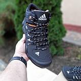 Чоловічі зимові кросівки FASTR чорні з помаранчевим, фото 7