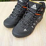 Чоловічі зимові кросівки FASTR чорні з помаранчевим, фото 8
