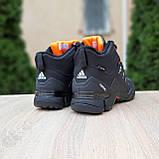 Чоловічі зимові кросівки FASTR чорні з помаранчевим, фото 9