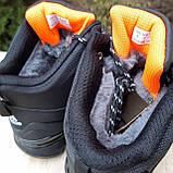 Чоловічі зимові кросівки FASTR чорні з помаранчевим, фото 10