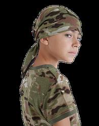 Бандана-Косынка детская камуфлированная Мультикам