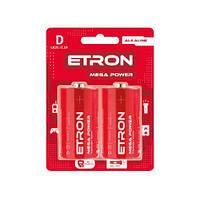 Батарейка ETRON Mega Power D-LR20 Blister Alkaline 2 шт