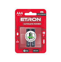 Аккумулятор ETRON Ultimate Power AAA 600mAh Ni-Mh Ready 2Use Blister 2 шт