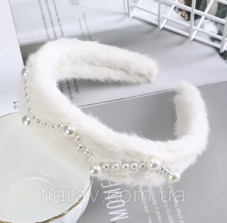 Обруч для волос белый, модный обруч для волос