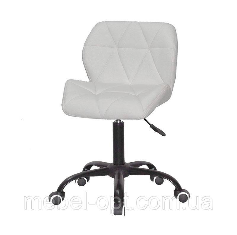 Стул Set BK-Office белый кожзам на черной крестовине c колесами