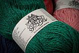 Пряжа шерстяная Vivchari Colored Wool, Color No.805 зеленый изумруд, фото 4