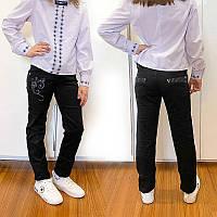 Черные школьные брюки для девочки Lafeidina Jeans 724. Размер 24, фото 1