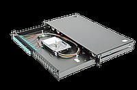 Патч-панель Corning 48 портов 12 LC-Duplex адаптера ММ(ОМ3) 1U выдвижная LAN1-24AD-PGTL-B