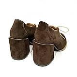 Полуботинки на шнурках, цвет шоколад, в наличии размер 39, фото 4