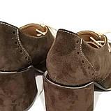 Полуботинки на шнурках, цвет шоколад, в наличии размер 39, фото 5