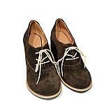 Полуботинки на шнурках, цвет шоколад, в наличии размер 39, фото 3