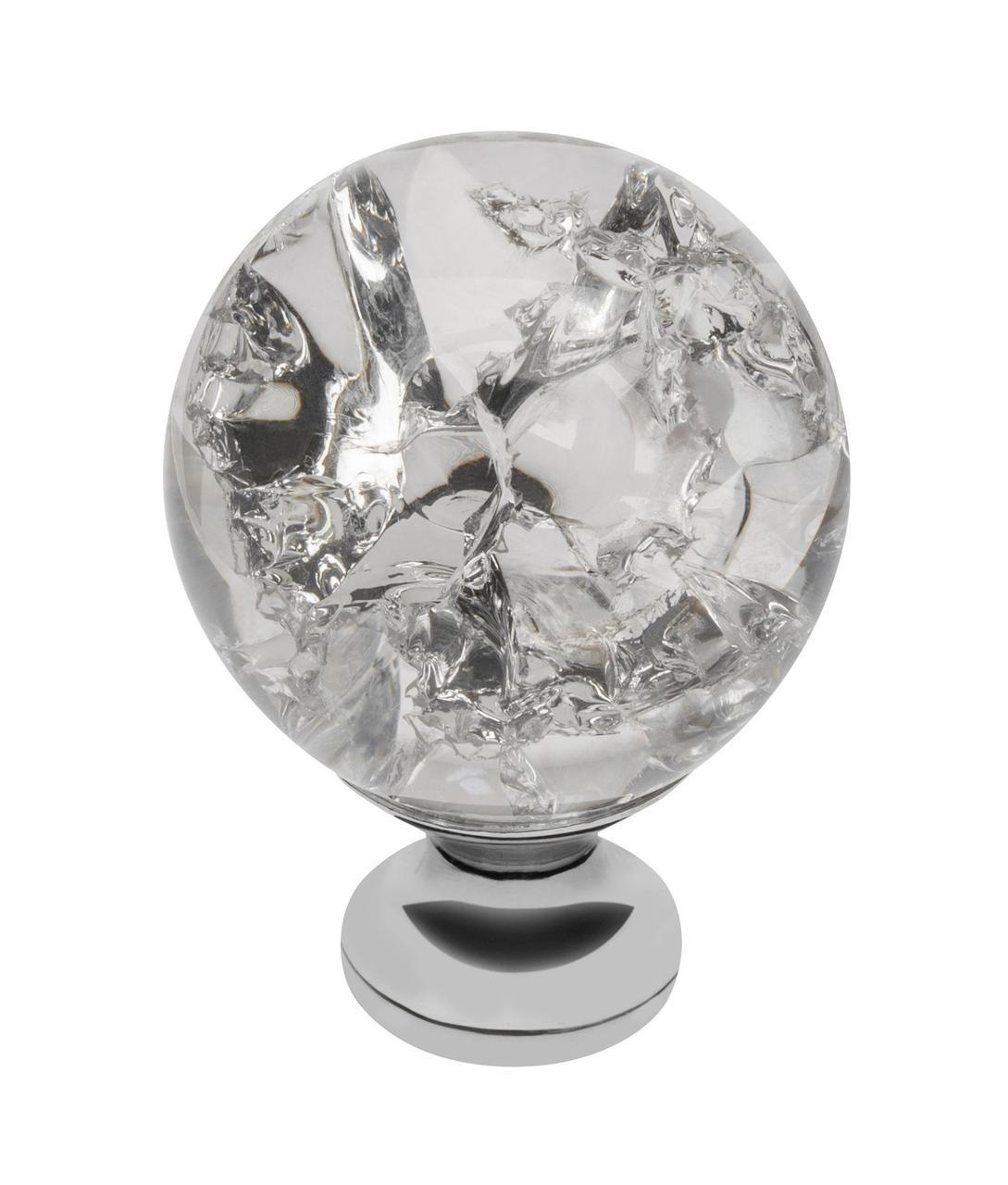 Ручка меблева GTV Crystal Palace D=30 мм Хром/Кристал (GZ-CRPC30-01)