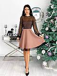 Вечернее комбинированное платье 50-314, фото 7
