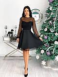 Вечернее комбинированное платье 50-314, фото 10