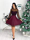 Вечернее комбинированное платье 50-314, фото 6