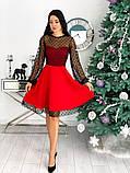 Вечернее комбинированное платье 50-314, фото 9