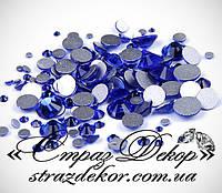 Стразы ss6 без клея Sapphire (синие) (1400шт.) холодной фиксации