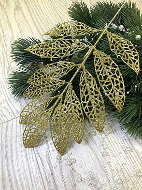 Лист для декора золото ( 10 шт ), фото 2