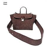 Сумка-портфель, цвет бордо, фото 2