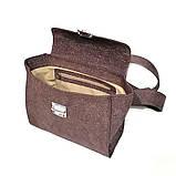 Сумка-портфель, цвет бордо, фото 5
