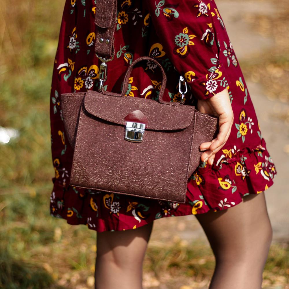 Сумка-портфель, цвет бордо