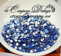 Стразы ss6 без клея Light Sapphire (голубые) (1400шт.) холодной фиксации