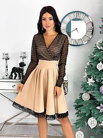 Святкова сукня комбіноване з сіткою 50-472