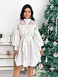 Платье с гипюровыми вставками 50-502, фото 3