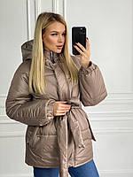 Куртка на синтепоне с поясом женская (ПОШТУЧНО), фото 1