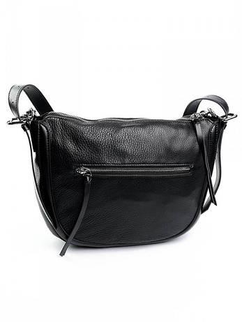 Женская сумка кожаная с трендовой цепью Case 8089 черная, фото 2