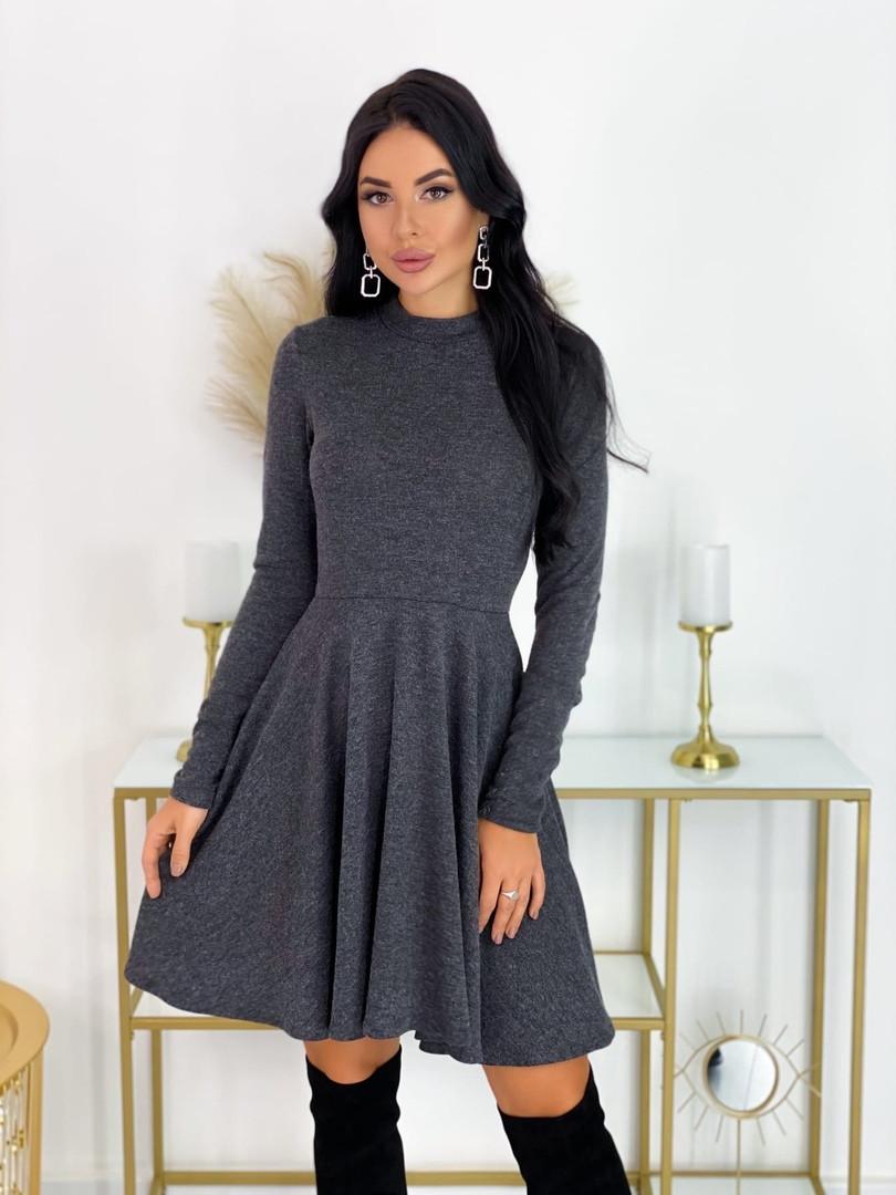 Короткое ангоровое платье 50-599