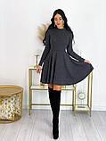 Короткое ангоровое платье 50-599, фото 5