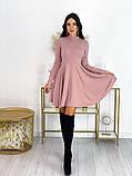 Короткое ангоровое платье 50-599, фото 7